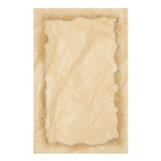 Wrinkled Crinkle Paper Stationery Design