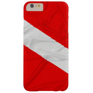 Wrinkled Diver Down Flag Barely There iPhone 6 Plus Case