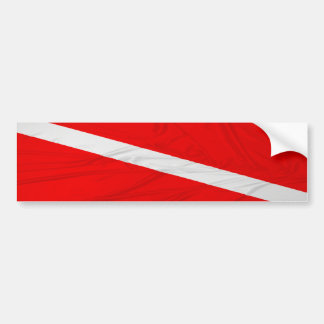 Wrinkled Diver Down Flag Car Bumper Sticker