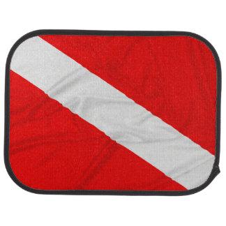 Wrinkled Diver Down Flag Car Mat