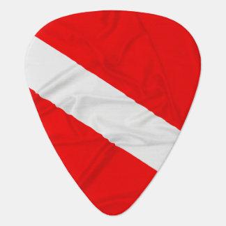 Wrinkled Diver Down Flag Guitar Pick
