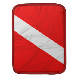 Wrinkled Diver Down Flag iPad Sleeve