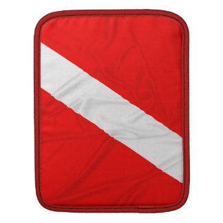 Wrinkled Diver Down Flag iPad Sleeve