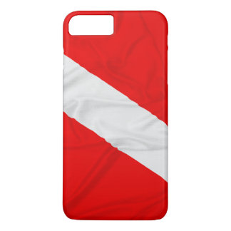 Wrinkled Diver Down Flag iPhone 7 Plus Case