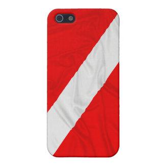 Wrinkled Diver Down Flag iPhone SE/5/5s Case