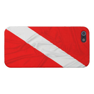 Wrinkled Diver Down Flag iPhone SE/5/5s Cover