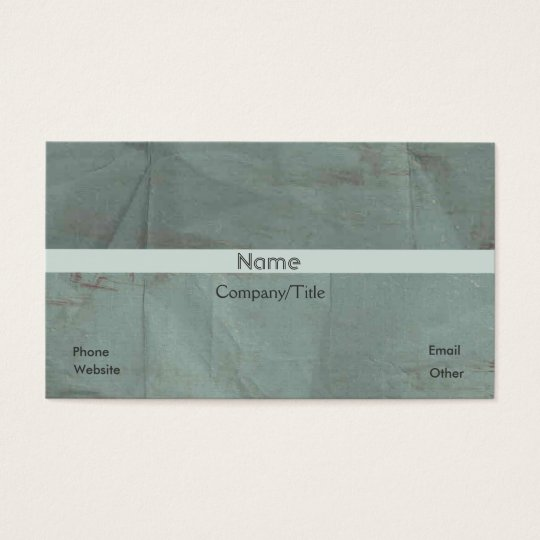 Wrinkled Green Satin Look Custom Personalized Business Card