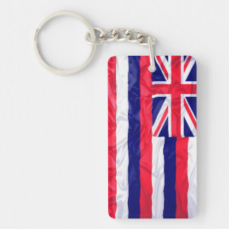 Wrinkled Hawaii Flag Keychain