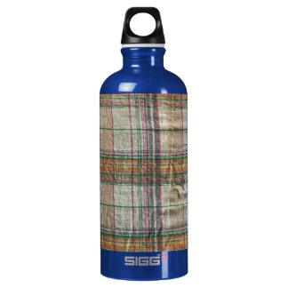 Wrinkled Madras Plaid Aluminum Water Bottle