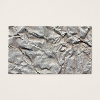 Wrinkled Paper Business Card