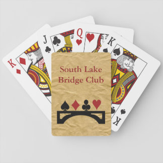 Wrinkled Paper Contract Bridge Playing Cards