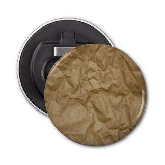 Wrinkled Paper, Crumpled Paper Texture - Brown Bottle Opener