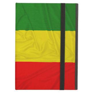 Wrinkled Rastafarian Flag Cover For iPad Air