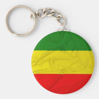 Wrinkled Rastafarian Flag Keychain