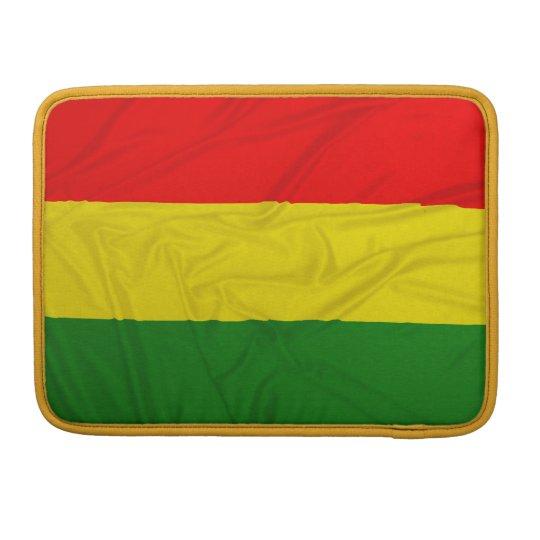 Wrinkled Rastafarian Flag MacBook Pro Sleeve