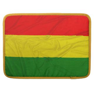 Wrinkled Rastafarian Flag MacBook Pro Sleeves