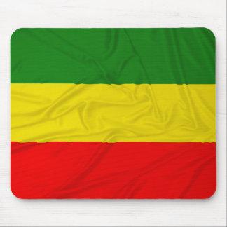 Wrinkled Rastafarian Flag Mouse Pad