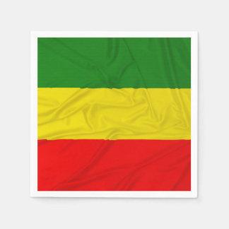 Wrinkled Rastafarian Flag Napkin