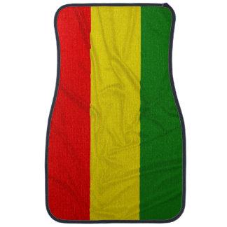 Wrinkled Rastafarian Flag Floor Mat