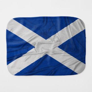 Wrinkled Scotland Flag Burp Cloth