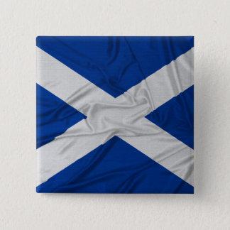 Wrinkled Scotland Flag Button