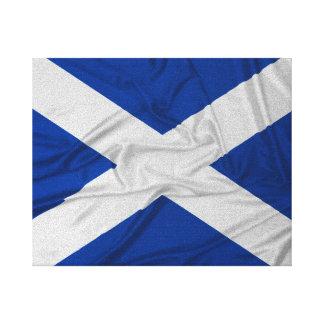 Wrinkled Scotland Flag Canvas Print