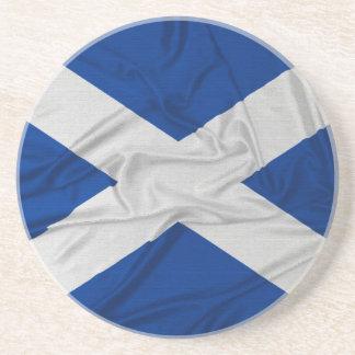 Wrinkled Scotland Flag Drink Coasters