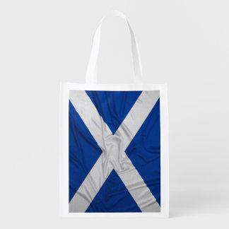 Wrinkled Scotland Flag Grocery Bag