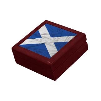 Wrinkled Scotland Flag Jewelry Box