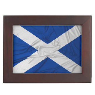 Wrinkled Scotland Flag Keepsake Box