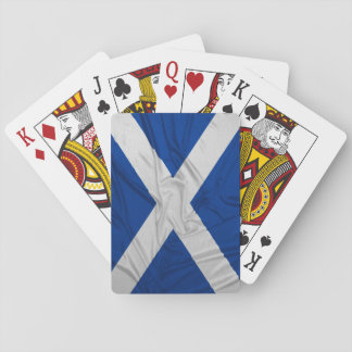 Wrinkled Scotland Flag Playing Cards