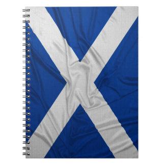 Wrinkled Scotland Flag Spiral Notebook