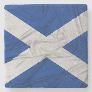 Wrinkled Scotland Flag Stone Coaster