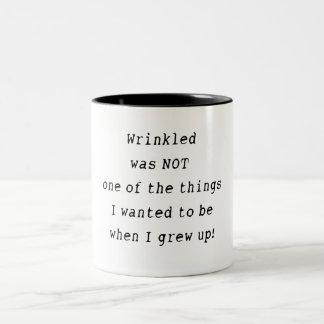 Wrinkled Two-Tone Coffee Mug