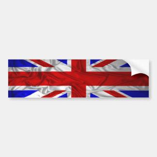 Wrinkled Union Jack Flag Car Bumper Sticker