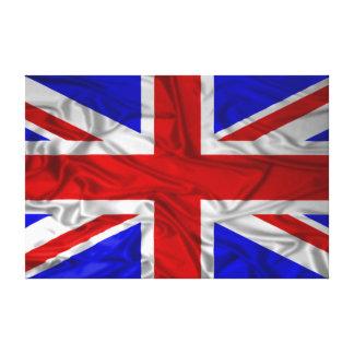Wrinkled Union Jack Flag Canvas Print