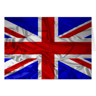 Wrinkled Union Jack Flag Card