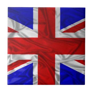 Wrinkled Union Jack Flag Ceramic Tile