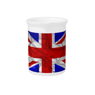 Wrinkled Union Jack Flag Drink Pitcher