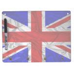 Wrinkled Union Jack Flag Dry Erase Whiteboard
