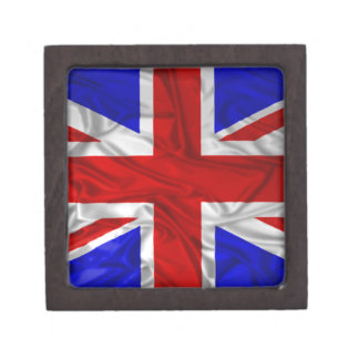 Wrinkled Union Jack Flag Gift Box
