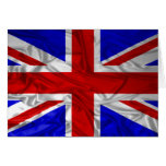 Wrinkled Union Jack Flag Greeting Cards