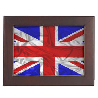 Wrinkled Union Jack Flag Keepsake Box
