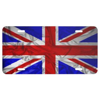 Wrinkled Union Jack Flag License Plate