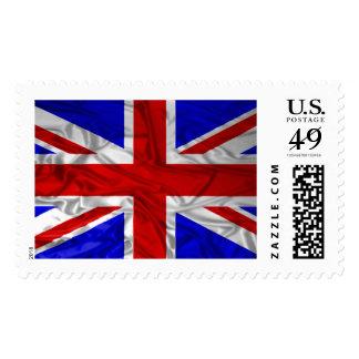 Wrinkled Union Jack Flag Postage