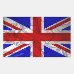 Wrinkled Union Jack Flag Rectangular Sticker