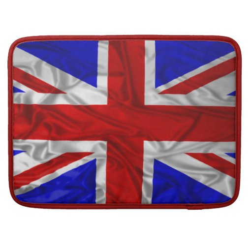 Wrinkled Union Jack Flag Sleeve For MacBook Pro