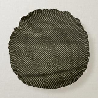 Wrinkled Vintage Black White Pattern Round Pillow