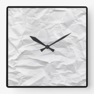 Wrinkled watch square wall clock