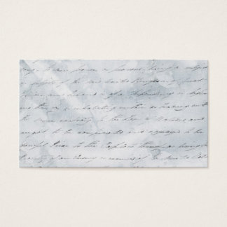 Wrinkled White Paper with Writing background Business Card